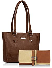 Fristo Women Handbag And Wallet Combo(FRWC-006)Brown