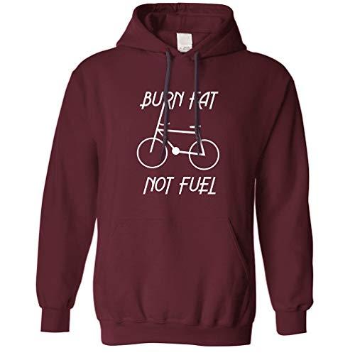 Tim And Ted Eco Friendly Kapuzenpullover Fett verbrennen, Nicht Brennstoff - Zyklus Logo Maroon XX-Large
