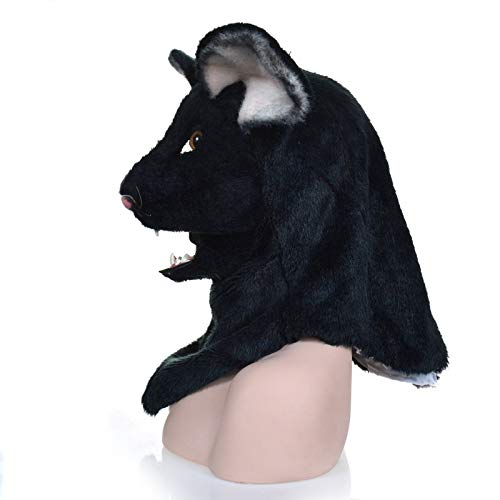 XIANGBAO-Maskenparty Bewegen Mund schwarze Maus Maske Tierkarneval Cosplay Masken (Color : Black, Size : 25 * 25)