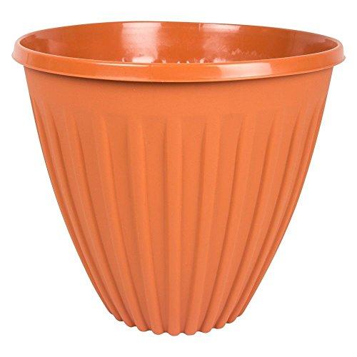 RAM en terre cuite Grande nervuré Plastique Pot de fleurs Pot de fleurs Jardinière, Tall Planter