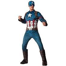 Capitan América CW - Capitán América Disfraz infantil Deluxe, talla única (Rubie's Spain 810967)