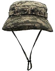 Aivtalk Homme Femme Chapeau de Soleil/ Pêche/ Boonie Bob Hat Anti-UV Séchage Rapide Camouflage Militaire Réglable pour Randonnée Cyclisme (Tour de Tête: 56-60 CM)