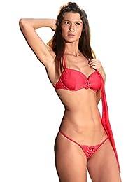 bdde9f84ab31a Maillot de Bain String Bikini Sexy uni Noir Blanc Bleu Rose Orange Violet -  Bahamas