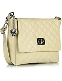 Butterflies Women's Sling Bag (Cream,BNS 0394)