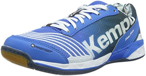 Kempa Attack Two, Scarpe da Pallamano Unisex - Adulto, Multicolore (Fair Bleu/Pétrole/Blanc), 40.5 EU