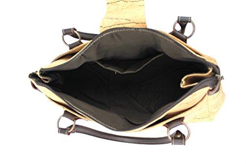 SHOULDER CORK CROSS-BODY BAG by Dux Cork GENUINE PORTUGUESE PREMIUM Cork Fabric 100% QUALITY GUARANTEE Riscas