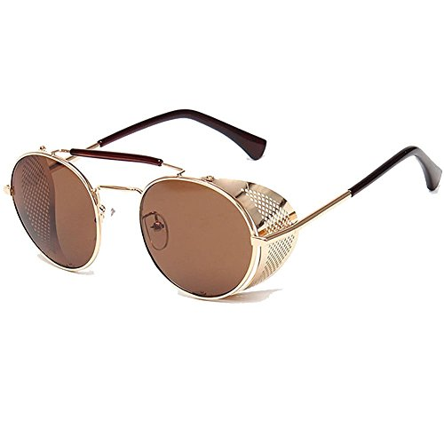 Xinmingyue Summer Lens Round Glasses Cyber Goggles Steampunk Sunglasses Vintage Retro A056#