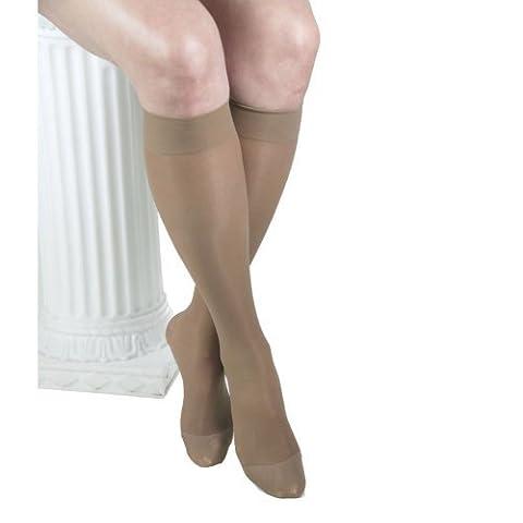 GABRIALLA Sheer Knee Highs, Compression (23-30 mmHg) Beige, Medium, 3 Count by GABRIALLA