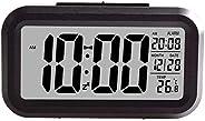 Creative Smart Nightlight Digital Alarm Clock Bedside Desk Table Electronic Clock Battery Operated Mute Lumino