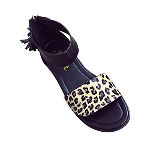 Saingace Frauen-Sommer-flache Art- und Weisesandelholze bequeme Damen-Schuhe Gelb
