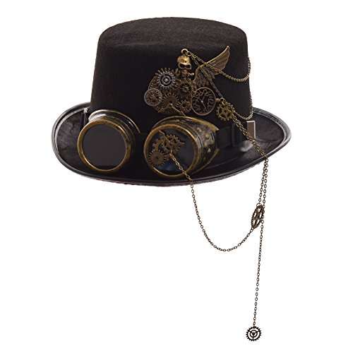 Graceart steampunk cappello accessori halloween cosplay (58 circonferenza)
