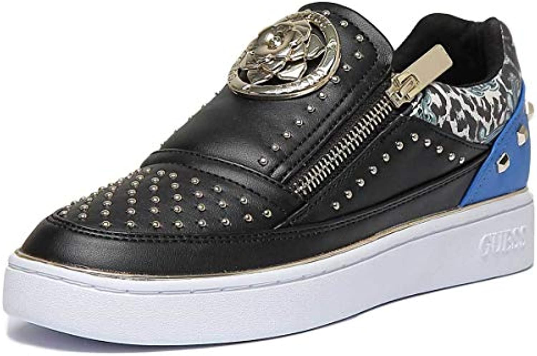 Guess Scarpa scarpe da ginnastica Bassa MOD. BEELA Ecopelle Nero Blu Donna DS19GU03   Conosciuto per la sua buona qualità    Scolaro/Ragazze Scarpa