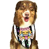 Osmykqe Hund Bandana Peace Ausdruck Lätzchen Trangle Kopftuch für Katzen Pupply Big Dog Soft