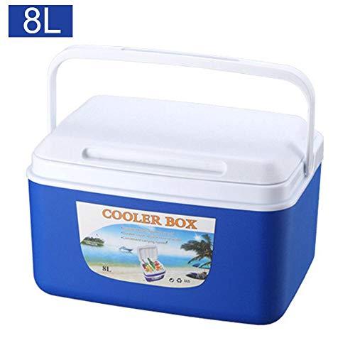 Ploufer Outdoor Inkubator, 8L Tragbare Frische Lebensmittel Mittagessen Obst Getränke Aufbewahrungsbox Kühler Mini Kühlung für Camping Picknick Angeln Reisen