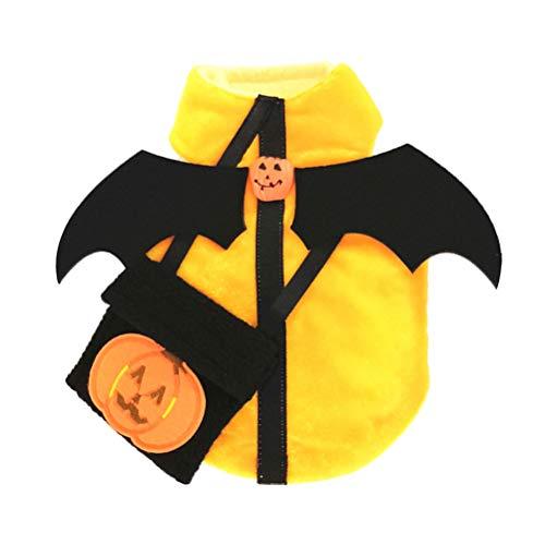 POPETPOP Hund Kürbis Kostüm Haustier Cosplay Kleid Halloween Kostüme Größe - Kreative Kostüm Männlich