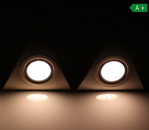 LED Unterbeleuchtung zwei Set Küchenleuchte Küche Schrankleuchten Dreieckleuchte neutralweiß Licht