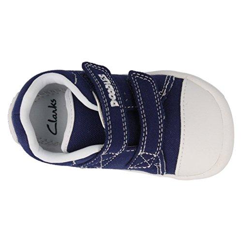 Clarks  Little Chap, Baskets mode pour garçon One Size Fits All Toile Bleu marine