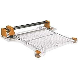 Fiskars ProCision Massicot multi-matériaux, A4, Pour matériaux très épais, Avec système à double rail, Orange/Blanc, 1015748