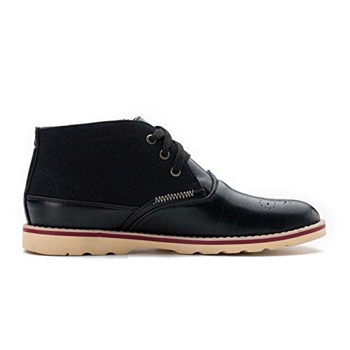 Herrenschuhe durchlässige Hohl Slip niedrige Schuhe fallen neuen Tragekomfort Schuhe helfen Black