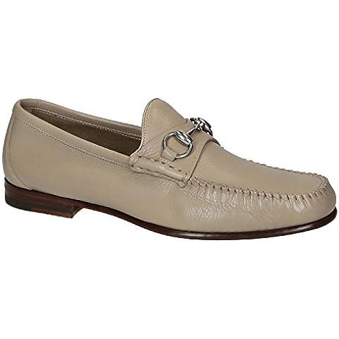 Mocasines zapatos Gucci hombres en piel color beige - Número de modelo: 367926 BXO00 1523