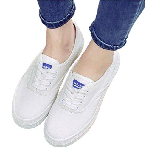 SHFANG Lady Shoes Piccoli scarpe bianche Spessore Bianco Bianco Canvas Scarpe Movimento Leisure Comodo Studenti Daily Black White White