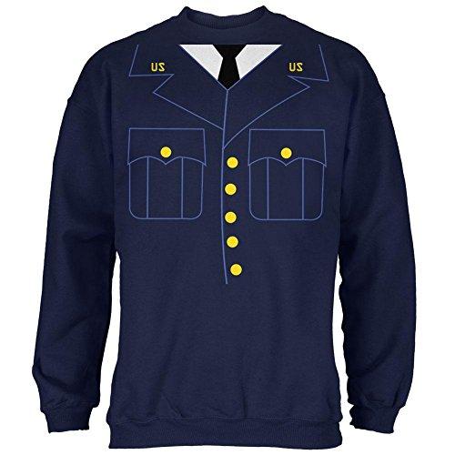 Militärische formale Halloween Kostüm Herren Sweatshirt Navy (Halloween Old Kostüme Navy)
