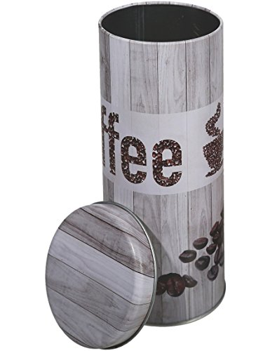 Kaffeedose Paddose Metall »Coffee« Vintage Look Pads ca. 18·8cm Grau