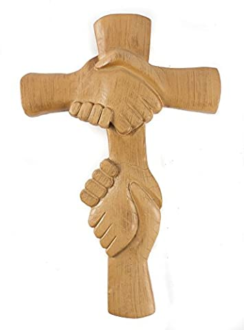 Entwined Hands Wall Cross - The Hands of the Lord