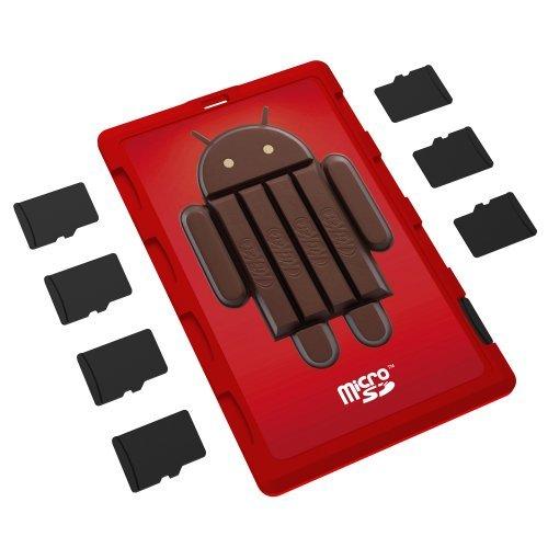 DiMeCard micro8 - Organizador de tarjetas de memoria microSD, diseño Android 4.4...