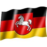 Flagge/Fahne NIEDERSACHSEN Staatsflagge/Landesflagge/Hissflagge mit Ösen 150x90 cm, sehr gute Qualität