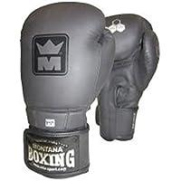 Montana 452045–Guantes de Boxeo Unisex, Color Negro