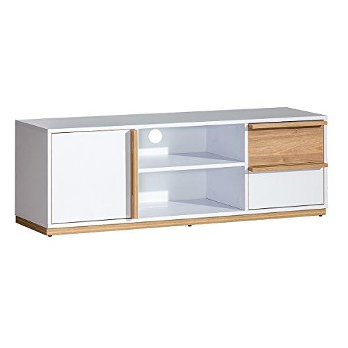 ᐅ Wohnzimmer Set Weiss / Nussbaum - 9 tlg.