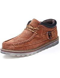Clásico La Para Felpa Hombres Terciopelo Gruesa Zapatos Botas Con Nieve De Casual Cálido Calzado fFxvq