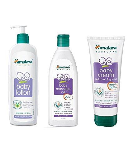 Himalaya Combo (Baby Cream 200 ml + Baby Lotion 400 ml + Baby Oil 200 ml)