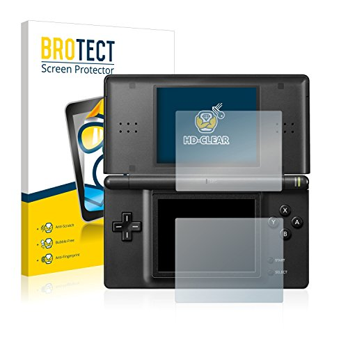 brotect Nintendo DS Lite Schutzfolie Displayschutzfolie [2er Pack] Folie Displayfolie Klar