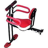 JT Fahrrad Front Kindersitz Voller Umfang Baby-Sitze Universelle Quick-Release-Falten,Red,45X30CM