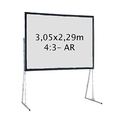 Kimex 046–2006K Projektionsleinwand, Koffer 3,05x 2,29m, Format 4/3, Rückprojektion
