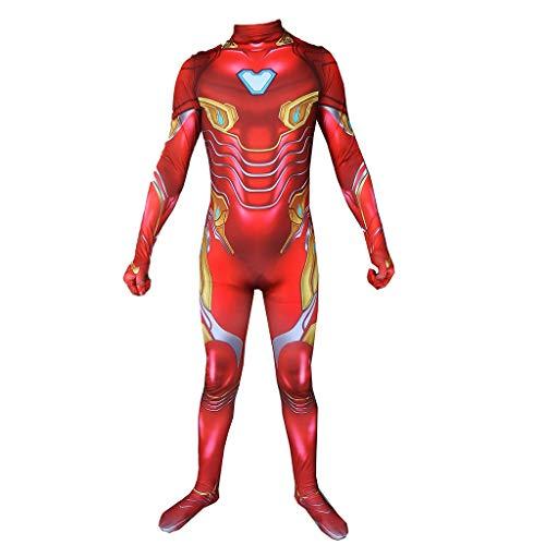 QWEASZER Rächer: Endgame, Iron Man zentai Bodysuit Spandex Jumpsuits Iron Man Kostüm Halloween Halloween Show Cosplay Kostüm,iron (Iron Mann Bodysuit Kostüm)