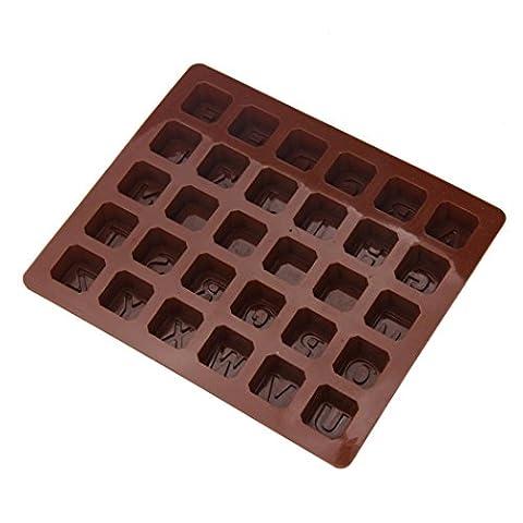 Zjene Coque en silicone Alphabet Moule à Cake Fondant au chocolat Cookies Bonbons Moule 18*15*1.5cm/7.1*8.7*0.6