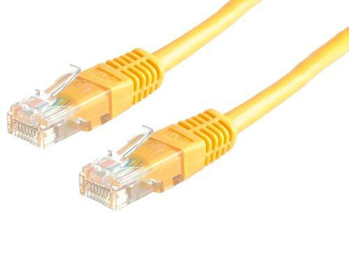 ROLINE UTP LAN Kabel Cat 5e | Ethernet Netzwerkkabel mit RJ45 Stecker | gelb 2 m - Twisted-pair-Übertragung