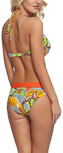 Feba Damen Push Up Bikini Set Sonia Muster-04D
