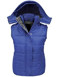 CANDY FLOSS LADIES SLEEVELESS HOODED QUILTED GILET BODYWARMER JACKET SIZES 8-20