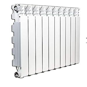Termosifón radiador calentador de agua o vapor elementos de aluminio fundido Marca: Fondital mod. Exclusivo B3 600/100 distancia entre ejes 600 mm 40x60mm (4 elementi) Bianco