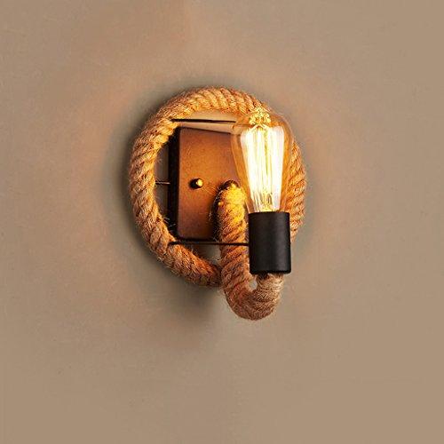 Nailyn Vintage Marihuana Hanfseil Wandleuchten Loft Kreative Persönlichkeit Edison Eisen Industrielle Lampe Europäischen Stil Für Küche Restaurant Esszimmer Wohnzimmer Dekoration Wandleuchte Lampe