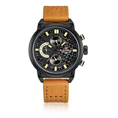 xisnhis schöne Uhren naviforce9068 männer wasserdicht gürtel auf Quarz - Uhr männer