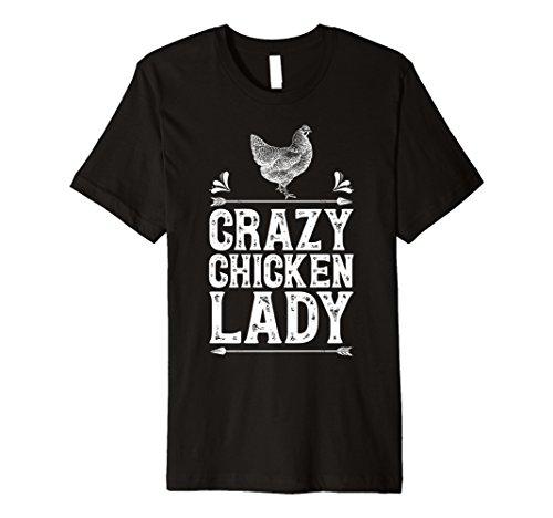 Crazy Chicken Lady T Shirt Funny Farm Geflügel Farmer ()