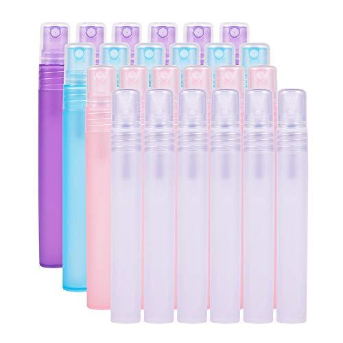 BENECREAT 24 Pack 10ml Bottiglia di plastica Vuota Riutilizzabile Nebbia Spray Vuoto Adatto per Oli Essenziali Prodotti di Bellezza biologici