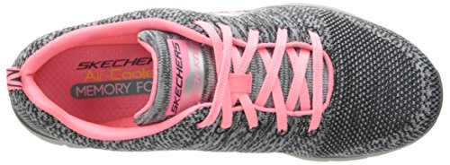 Skechers Flex Appeal 2.0 High Energy, Baskets Basses Femme Gris (Cccl)
