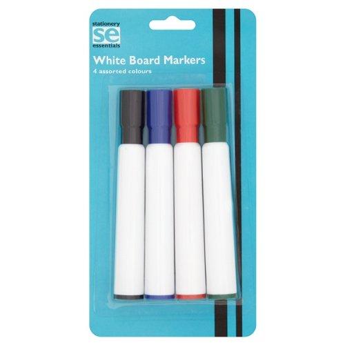 Preisvergleich Produktbild Schreibwaren Essentials-White Board Marker 4 sortierte Farben