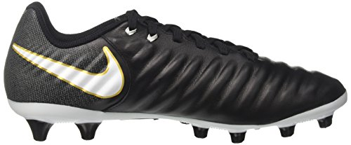 Nike Tiempo Ligera Iv Ag-Pro, Chaussures de Football Homme, Black/White-Laser Orange Volt Noir (Black/White-Black-Metallic Vivid Gold)
